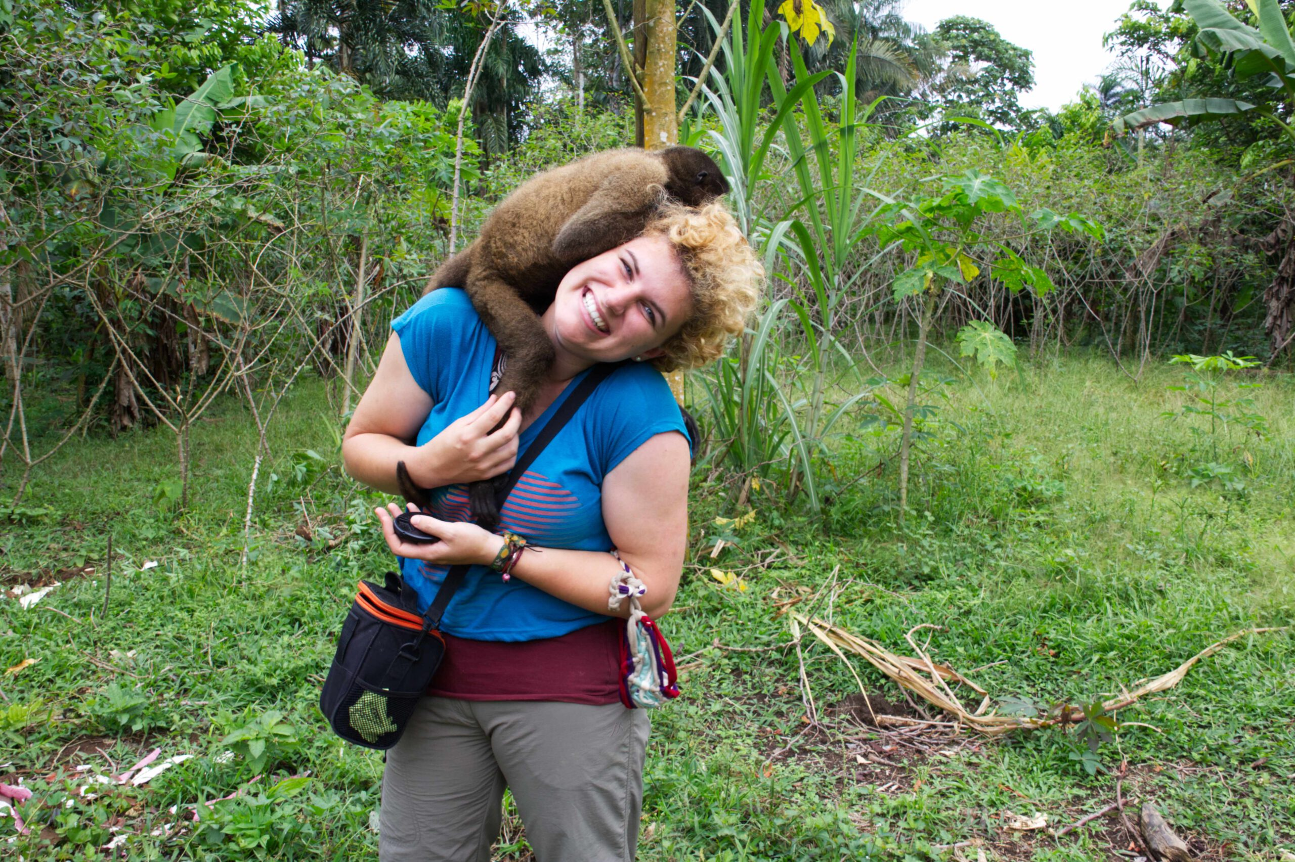 Cuyabeno Ecuador, zahmer Affe Nacho
